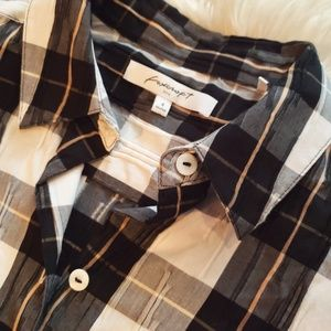 Foxcroft Tops - Foxcroft Crinkle Plaid Button Up